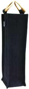 One-Bottle Solid Black Wine Bag