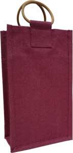 Two-Bottle Burgundy Wine Bag