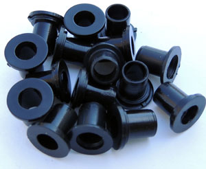 7mm to 8mm Spacers - Set of 8 - Black