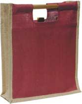 Three-Bottle Burgundy-Natural Wine Bag