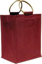 Six-Bottle Burgundy Wine Bag