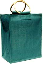 Six-Bottle Green Wine Bag