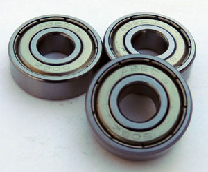 8mm ABEC3 608 Bearings for Skates - 8 Bearings