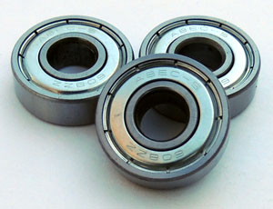 8mm ABEC5 608 Bearings for Skates - 8 Bearings